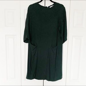 & Other Stories green shift dress size 8